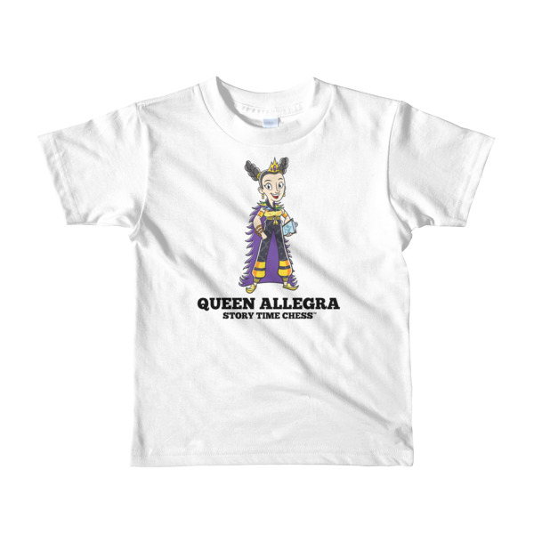 8cb9b9ed7b2 Queen Allegra - Short sleeve kids t-shirt - Fits Ages 2-6 - Story Time Chess