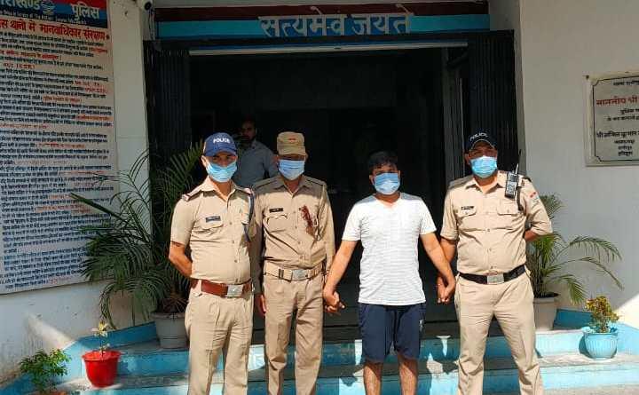 बेरोजगार युवाओं से धोखाधड़ी करने वाला सौरभ उर्फ कछुआ गिरफ्तार