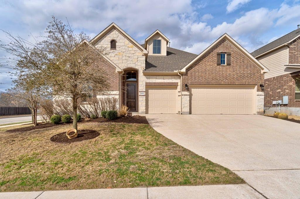 Check out this wonderful 3 bed, 2.5 bath home that sits on a corner lot in the Commons at Rowe Ln. This lot backs to a large acreage neighborhood with a field directly behind. Only one immediate neighbor to the side! Open layout in the living and kitchen area. The kitchen features a double oven with gas appliances, granite counters and a large island. Enjoy the fireplace that is both wood burning and gas in the living room. Big picture windows in the living room look out to the backyard and open field behind the house. Check out the two additional living/flex rooms, one being used as an office and the other as a media room. Half bathroom located conveniently next to media room with oversize storage closet. Two bedrooms at the front of the house share a full Jack and Jill style bath. Large master bedroom with spacious bathroom includes a garden tub, double vanity and walk-in shower. Walk-in closet in the master has plenty of room! Backyard has a covered patio and stone paver extension with connection for a gas grill. The 3-car garage has all the space you need with water softener hook ups installed. Walking in to the house from garage you have a mudroom area with bench and cubbies, right next to the laundry room! Carpet replaced in 2019 in media room and front two bedrooms. No carpet anywhere else! Wood look tile throughout the rest of the house. This will go quickly! Schedule your appointment today or stop by open house on Saturday from 11:00-2:00! ***Please submit best offer by Sunday 3/14 at 7:00PM. Seller will review all offers on Monday.***