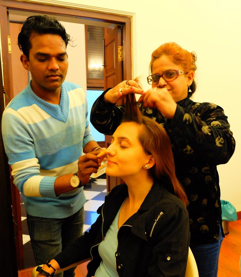 Przygotowania - make up, włosy