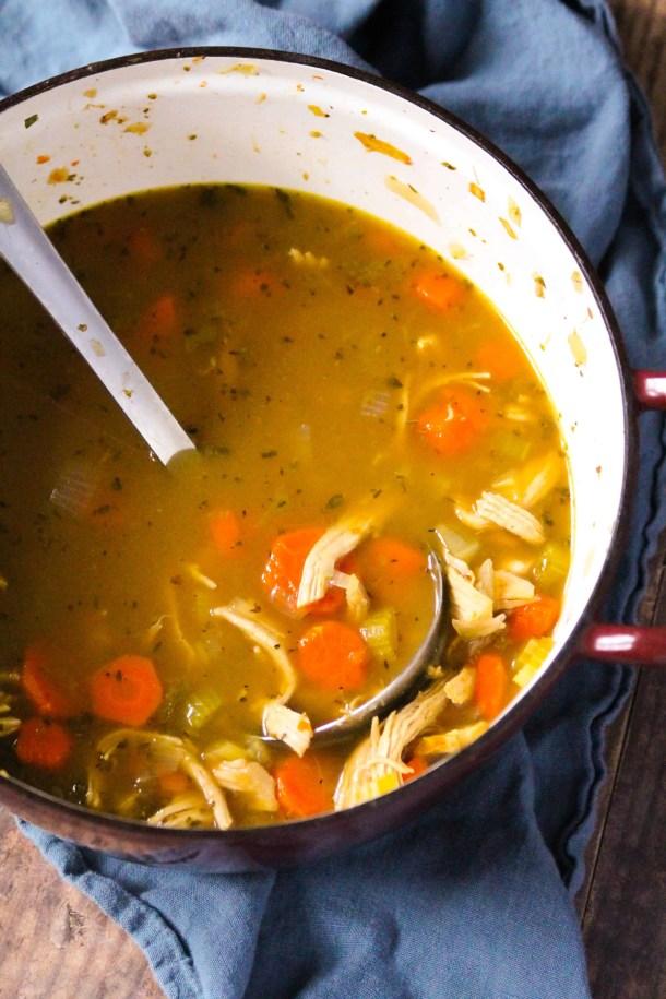 Dwardcooks Zero Point Chicken Soup - Pot of Soup