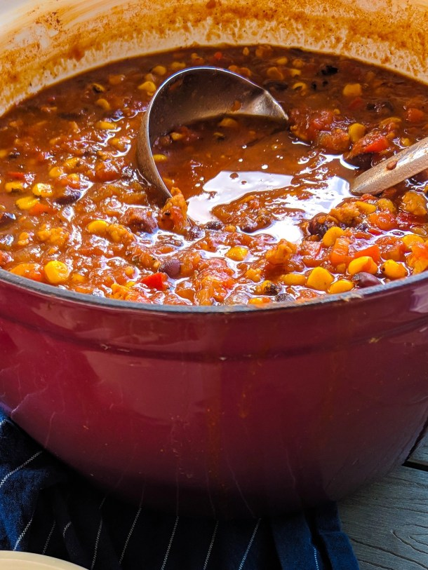 slow cooker turkey chili easy