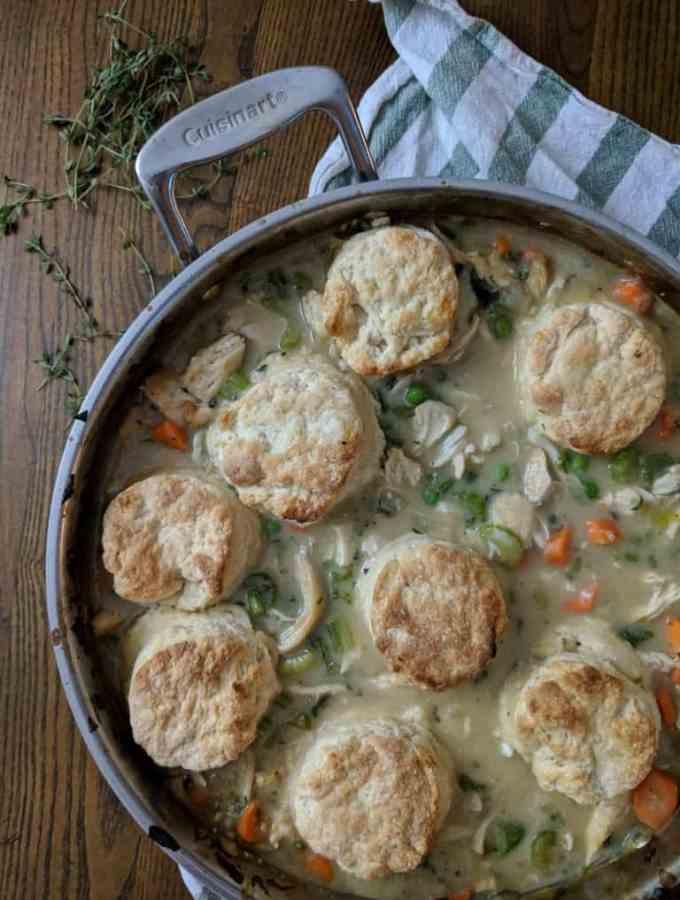 Healthy Biscuit Recipes: Chicken Pot Pie