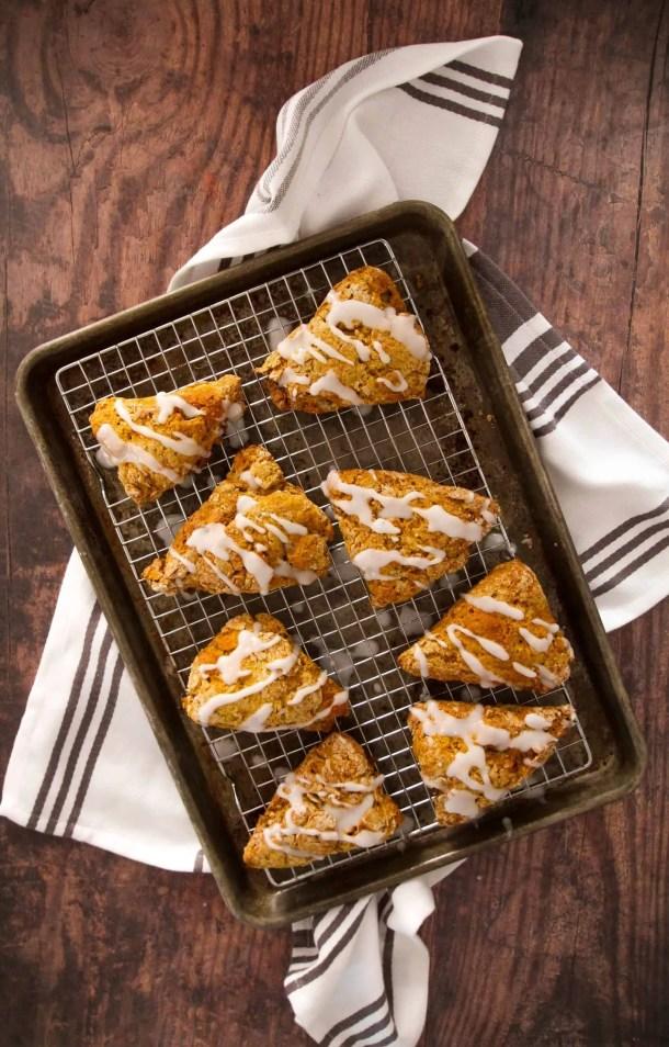Dwardcooks healthy pumpkin scones