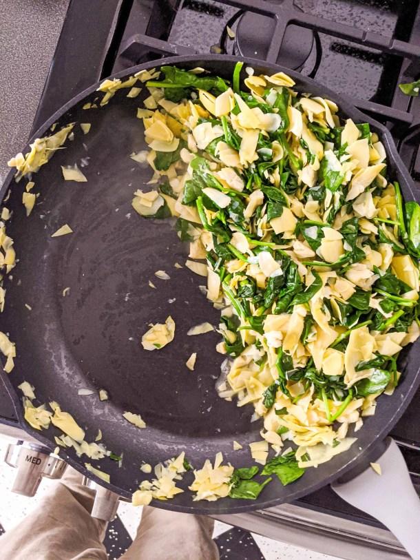 Dwardcooks Spinach Artichoke Dip - Halfway point