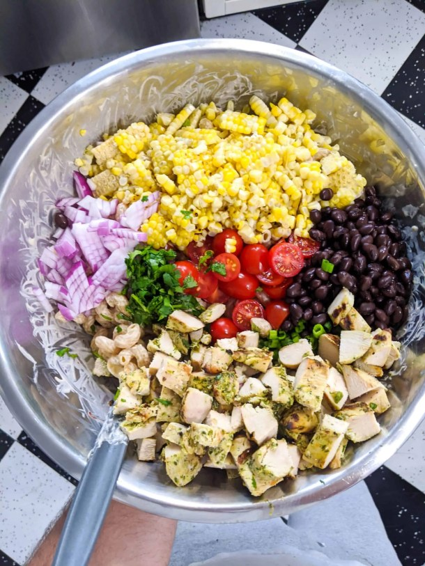 Dwardcooks chipotle chicken pasta salad - ready to mix
