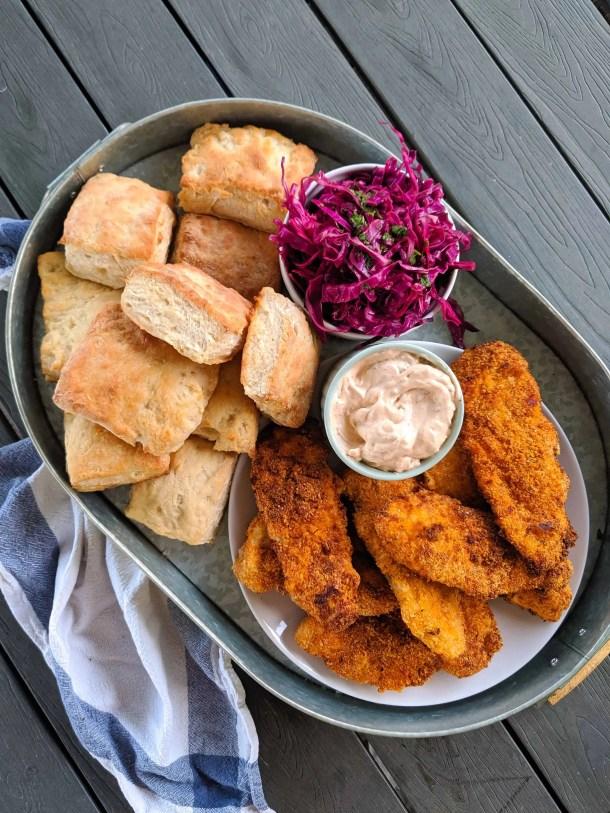 Dwardcooks Chipotle chicken and biscuit platter 2