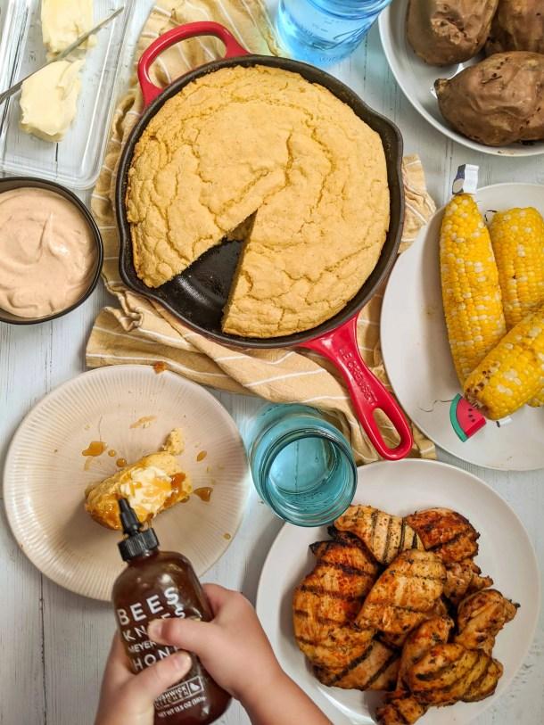 Dwardcooks honey and cornbread