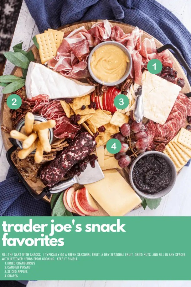 trader joes snacks for charcuterie boards