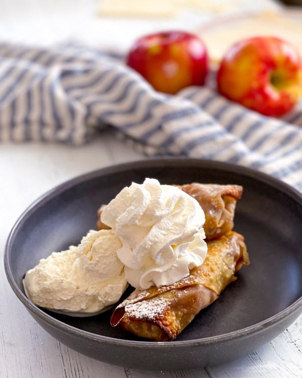 apple pie egg roll air fryer recipe