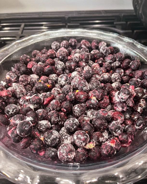 Frozen Blueberry Cobbler Filling - Healthy Blueberry Cobbler Weight Watchers