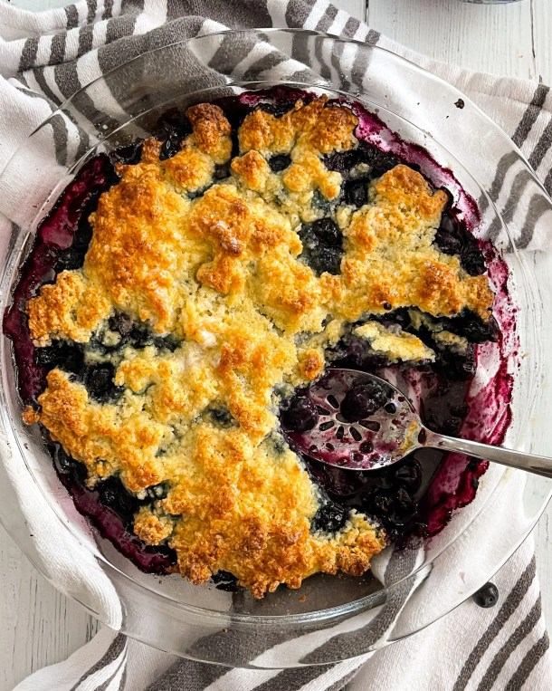 Easy Blueberry Cobbler with Frozen Blueberries Weight Watchers Blueberry Cobbler Healthy