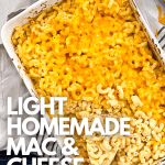 light homemade mac and cheese weight watchers