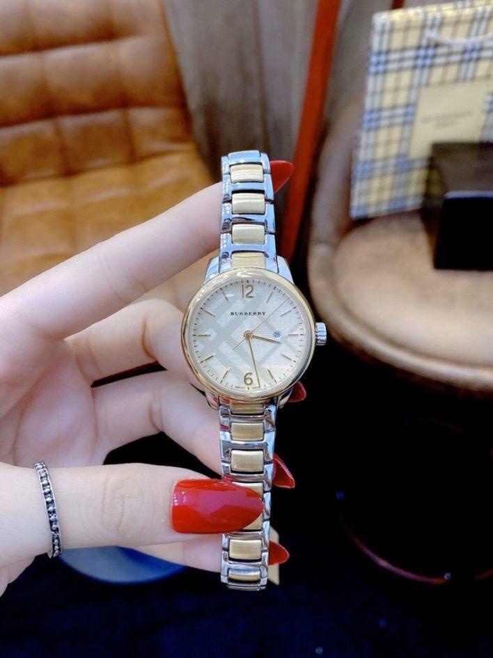 Đồng hồ Burberry nữ mặt tròn