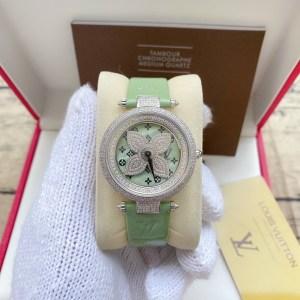 Đồng hồ Louis Vuitton nữ mặt xoay đính đá