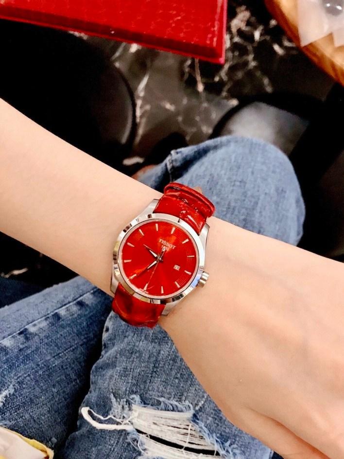 Đồng hồ Tissot nữ mặt tròn
