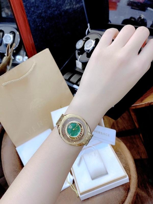 Đồng hồ Versace nữ mặt tròn