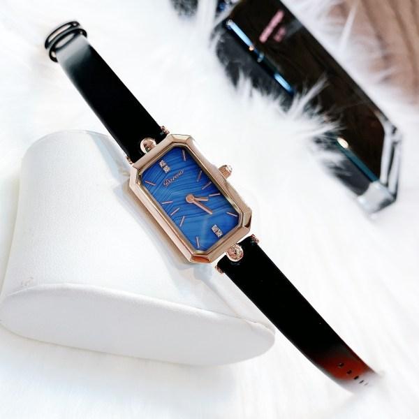 Đồng hồ Davena nữ dây da