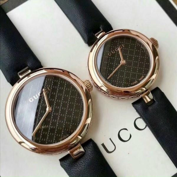 Đồng hồ Gucci nữ dây da màu đen