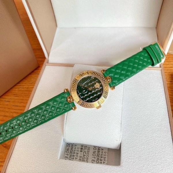 Đồng hồ Versace nữ dây da màu xanh lá