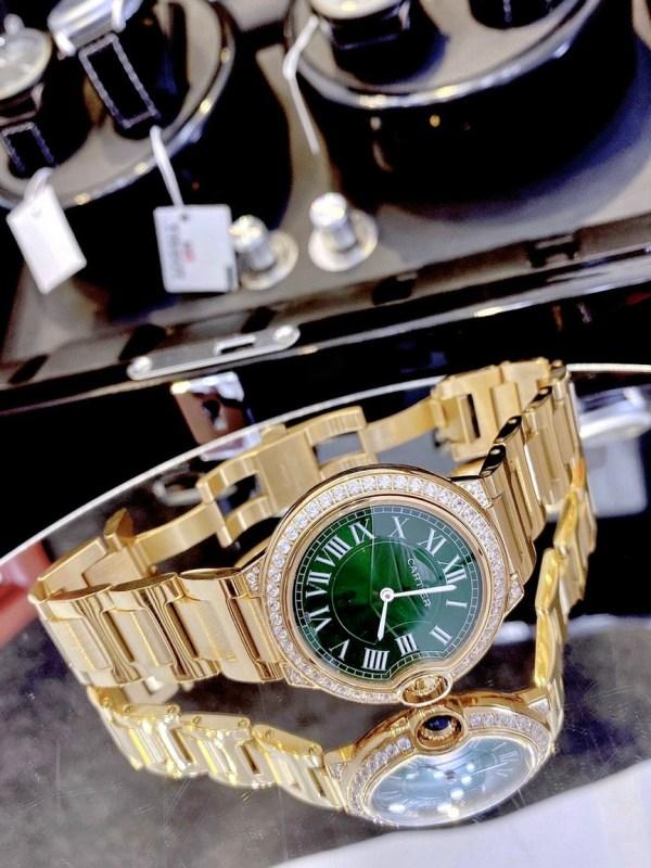 Đồng hồ Cartier nữ dây kim loại