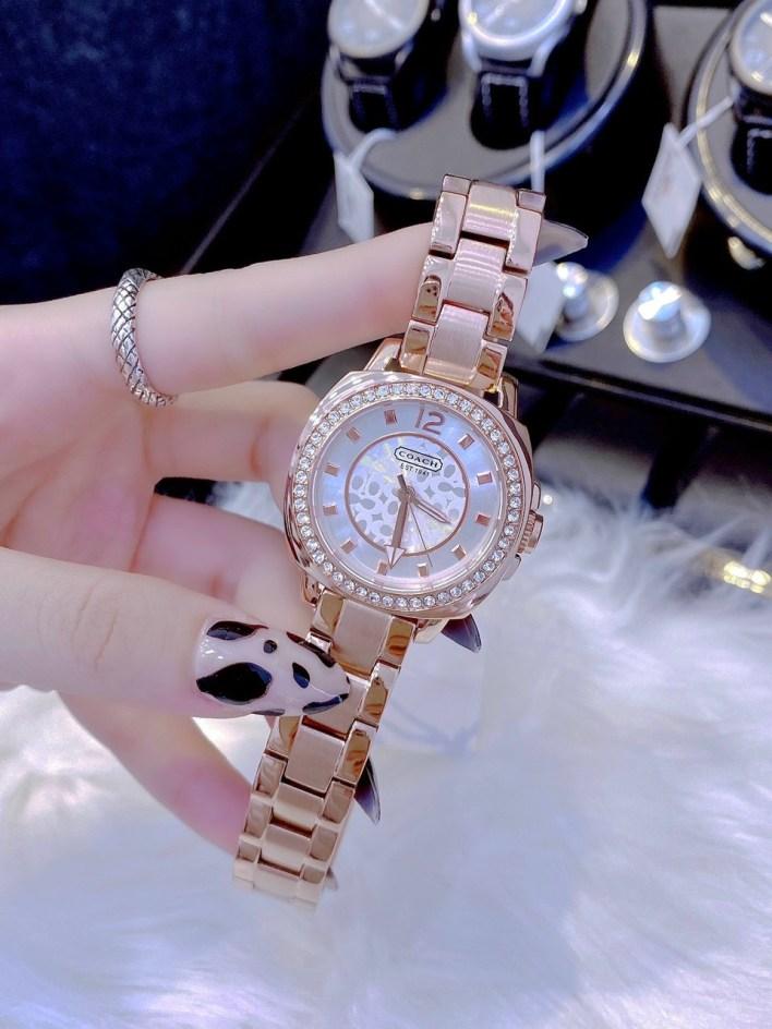 Đồng hồ Coach nữ dây kim loại