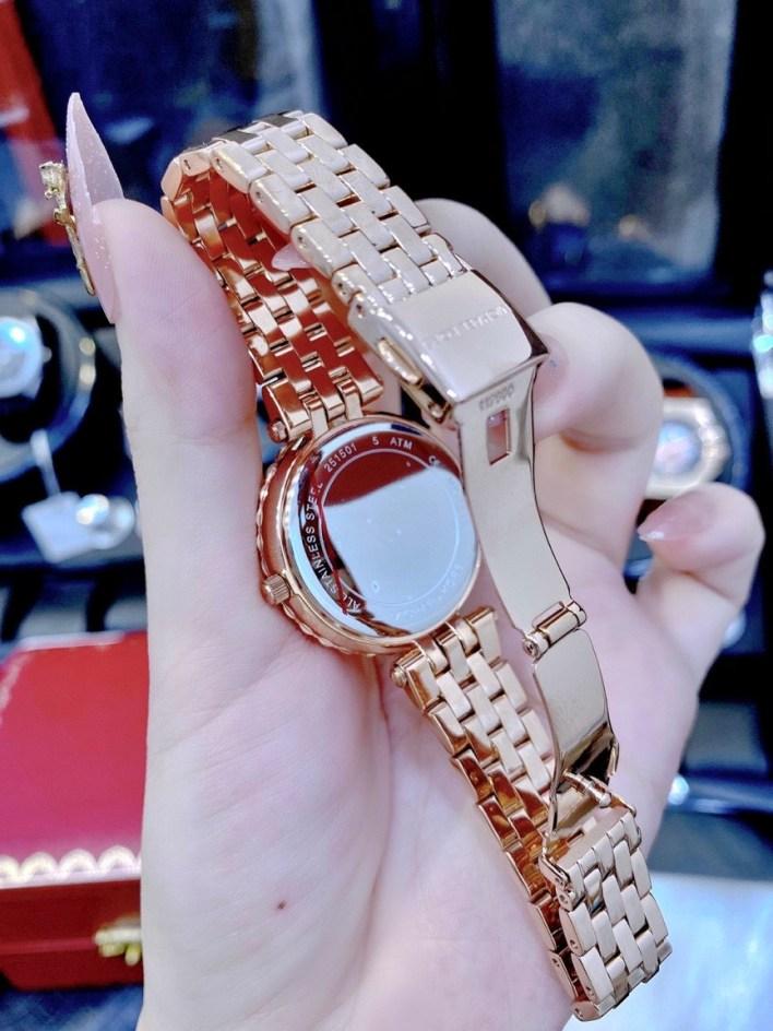Đồng hồ MK nữ dây kim loại
