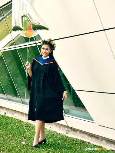Thailand graduation photography at Bangkok University, Rangsit Campus.