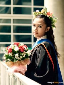 Thailand graduation photography in Bangkok University, Rangsit Campus.