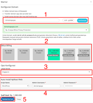 langkah membuat website selanjutnya dengan setting domain