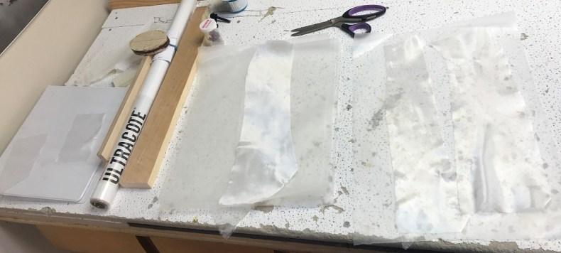 Preparing Fibre Glass For Floats