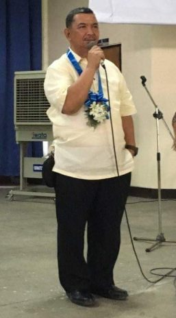 Fr. Gil T. Manalo, SVD, giving his thank you message to the DWCU community