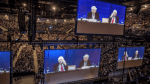 Warren Buffett in stadium