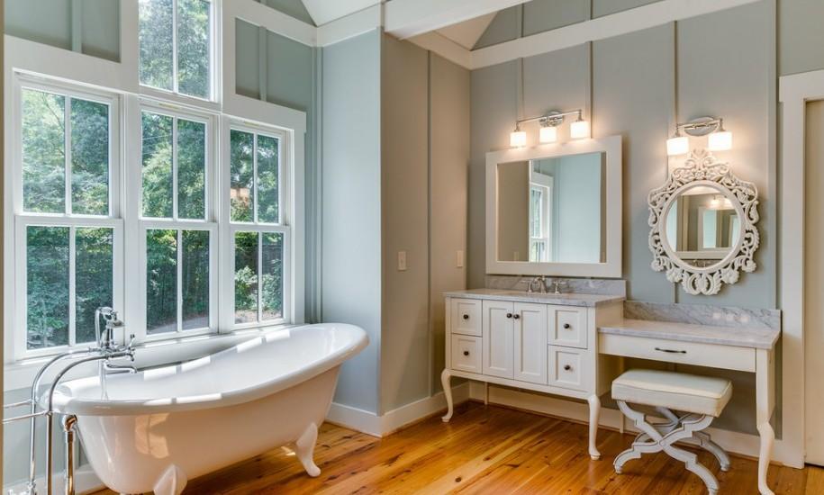 25 Fantastic Farmhouse Bathroom Design Ideas Pictures