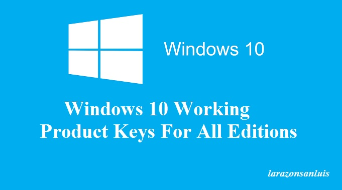 Free windows 10 Product Key 2017