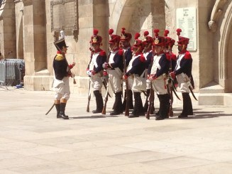 A little reenactment in front of the Cathedral.