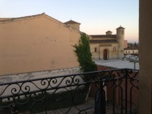 My view from the balcony at the municipal albergue.