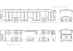 City Bus CAD block, AutoCAD file download, 2D model