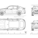 Bmw X6 Cad Model Download Car Drawing