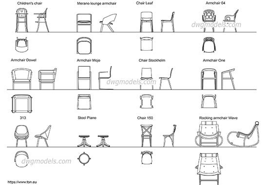 Lounge Sofa Cad Block | Baci Living Room