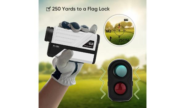Wosports Golf Rangefinder Review with pin seeker