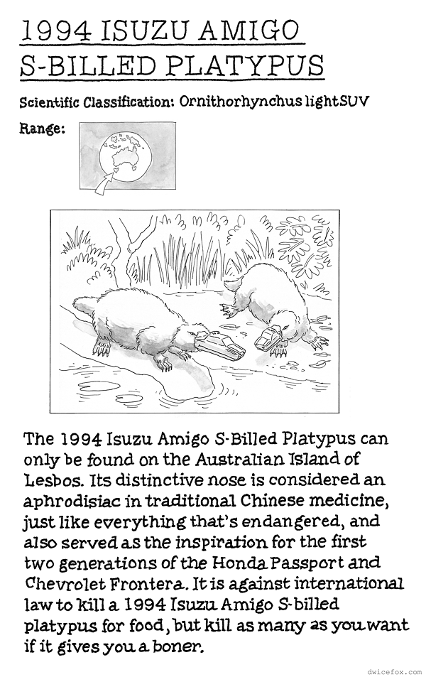 commonwealth-of-animals-011-1994-isuzu-amigo-s-billed-platypus