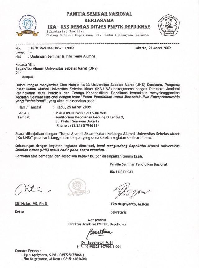 Contoh Surat Undangan Reuni Non Formal Backup Gambar