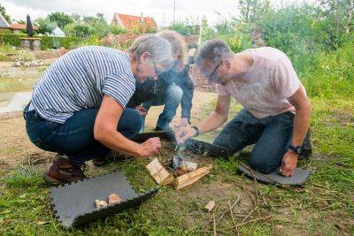 workshop koken op hout vuur