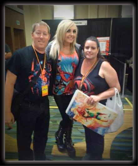 My son and DIL meeting their favorite cosplayer Jessica Nigri