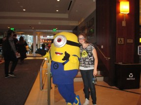 My granddaughter and a Minion