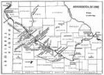 Map of U.S.-Dakota War, 1862