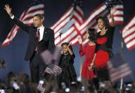 Barack, Malia, Sasha & Michelle Obama,Nov. 4, 2008