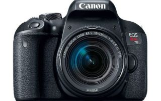 Canon EOS REBEL T7i Review