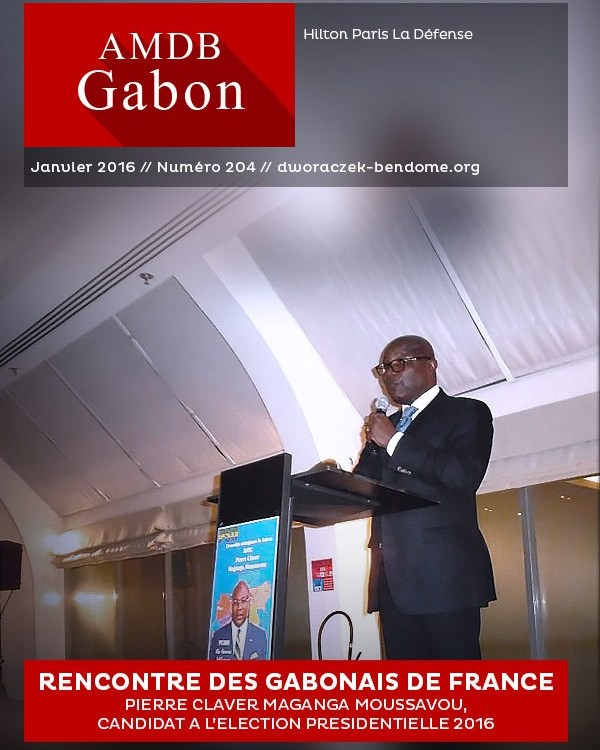 PRESIDENTIELLE 2016 : PIERRE-CLAVER MAGANGA MOUSSAVOU RENCONTRE LES GABONAIS DE FRANCE